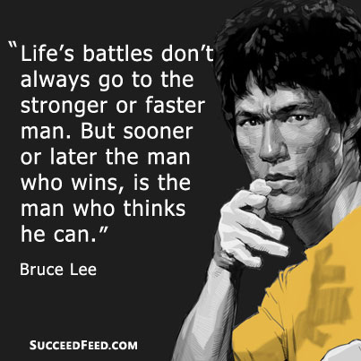 The Best 20 Bruce Lee Picture Quotes | Succeed Feed