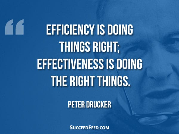 Peter Drucker Quote - Efficiency is doing things right;