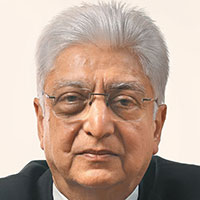Azim Premji - Dropped out of college due to family circumstances.